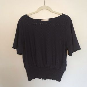 Michael Kors Navy Blouse